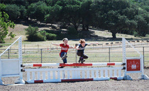 Jumping for joy at FSF horse camp